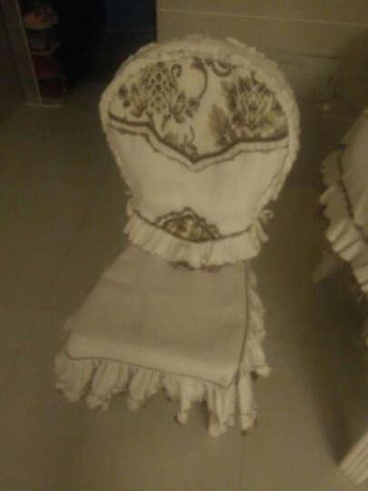 猛士 欧式桌布奢华餐桌布高档餐椅套茶几布台布 餐桌垫桌布椅套 美狄娅餐椅 餐椅套靠背45*60坐垫50*40*45(1套) 晒单图