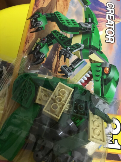 乐高LEGO创意百变三合一系列男孩儿童益智拼装恐龙飞机赛车积木玩具 31079 阳光海滩房车(8-12岁,379粒) 晒单图
