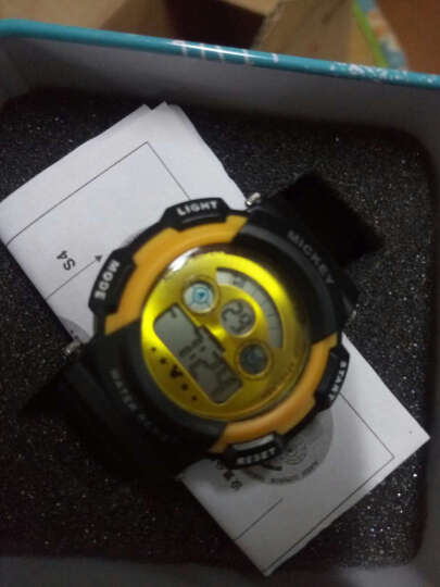 迪士尼(Disney)七彩炫酷夜光多功能儿童运动防水黄色男孩手表 DLE-013 晒单图
