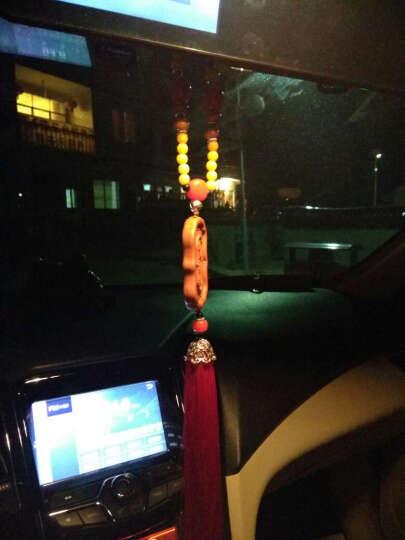 汽车挂件 枣木雕黄杨木镶嵌 个性精品车挂 小轿车SUV后视镜装饰件 普贤菩萨 晒单图