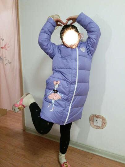 笛莎deesha女童儿童羽绒服上衣品牌童装中长款百搭保暖羽绒服914 粉色 160 晒单图