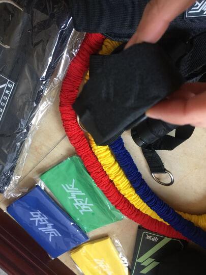 硬派燃脂安全锁防断裂健身带弹力带拉力绳乳胶带跳绳健腹轮豪华套装三《一平米健身》官方器材配套训练计划 晒单图