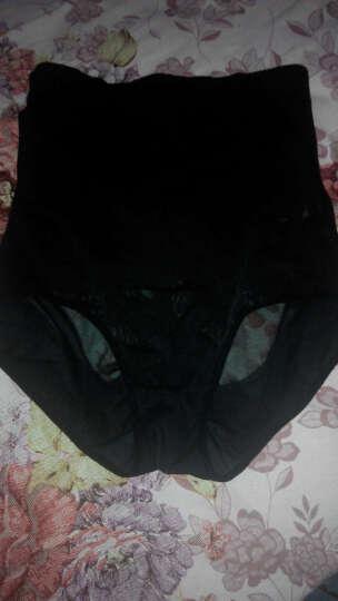 采多宝大码女装2018夏季胖妹妹高腰弹力产后收腹裤塑身裤打底裤K671 黑色(6月13号出货) 均码 晒单图