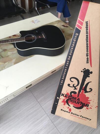 kepma 卡马 吉他民谣木吉他初学者乐器 缺角41寸 D1C日落色 晒单图