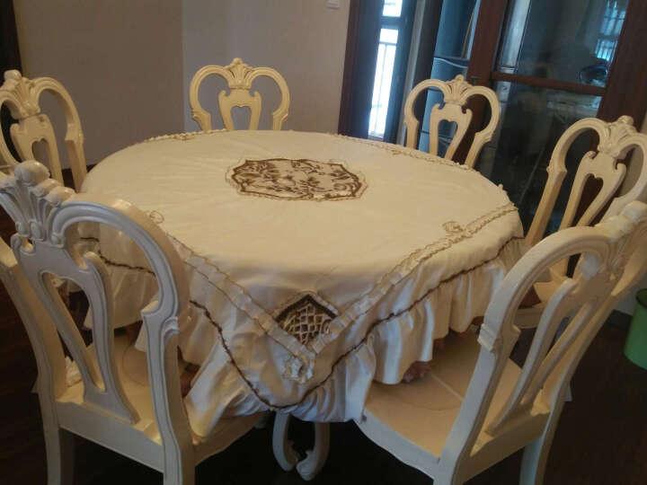 猛士 欧式桌布奢华餐桌布高档餐椅套茶几布台布 餐桌垫桌布椅套 美狄娅桌布 餐椅套靠背45*60坐垫50*40*45(1套) 晒单图