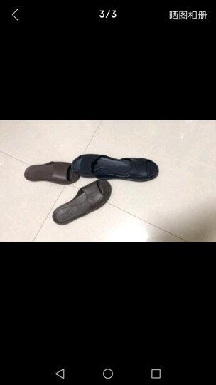 【颜色尺寸随机】富安娜家纺 家居拖鞋塑料可冲凉家居鞋 格调生活 蓝色(255) 晒单图