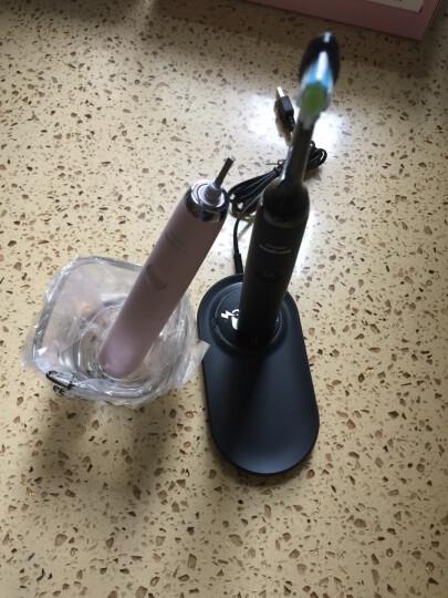 飞利浦(PHILIPS) 电动牙刷 成人声波震动钻石系列(自带刷头*2+收纳包) 无线充电  黑钻HX9392/91 晒单图