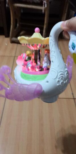 汇乐玩具(HUILE TOYS)梦幻天鹅游乐园 卡通旋转木马 电动万向车 536 晒单图