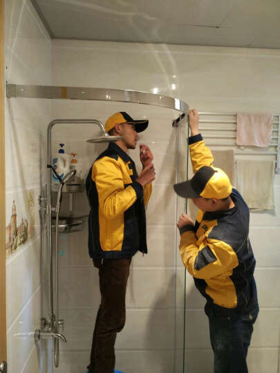 迪玛 淋浴房弧扇型304不锈钢钢化玻璃整体淋浴房间隔断浴室 可定制其他尺寸 详情咨询客服 8mm钢化玻璃 晒单图