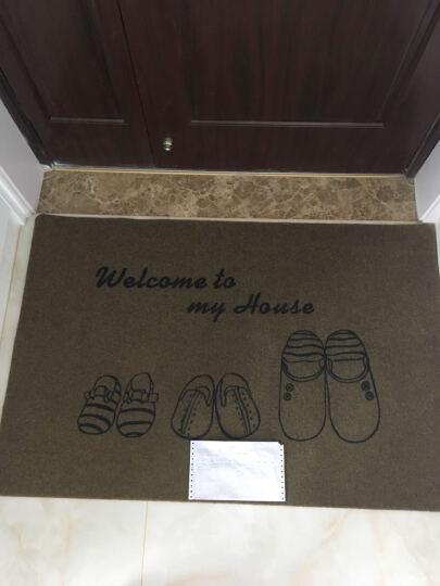 俏亿家防滑吸水地垫浴室门口卡通印花垫子家居客厅进门脚垫踩脚门垫厨房 紫色 50*80cm 晒单图