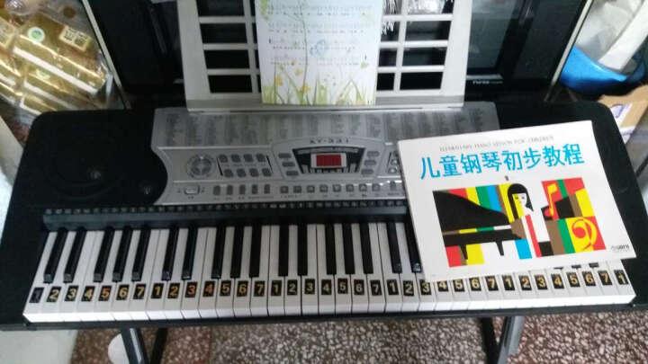 俏娃宝贝(QIAO WA BAO BEI) 儿童电子琴61键电钢琴玩具 带液晶显示带电源 智能灯光教学电子琴粉色+送琴架+大礼包 晒单图