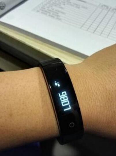 朵酷 苹果三星小米智能手环男女运动手环手表计步器健康检ios安卓系统 睿智黑 晒单图