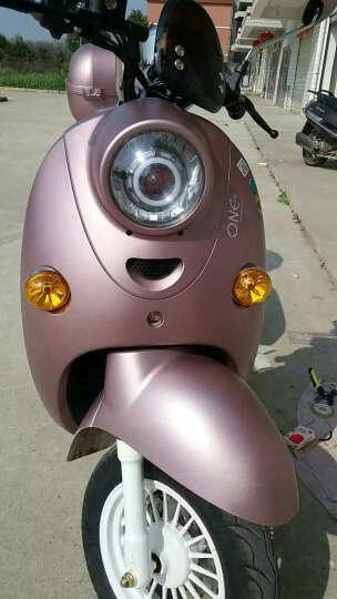 美蒂亚摩托车灯电动车灯LED大灯12V-60V鬼火改装配件天使眼恶魔眼透镜激光炮爆闪 粉蓝 一个装 晒单图