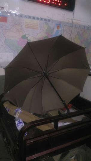 天堂伞 雨伞193E碰10片钢骨架仿风伞直杆晴雨伞男士特大伞加大加固一甩干双人长柄雨伞 咖啡色 晒单图