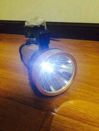 瀚鹰400W强光手电筒 可充电式探照灯 LED远射王1000米户外防水防身防爆手提灯 400W (偏黄光MTG2灯珠) 晒单图