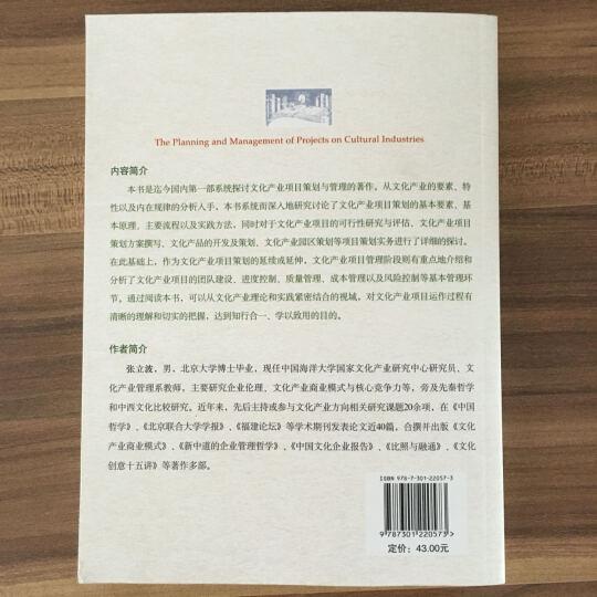 北京大学文化产业基础教材:文化产业项目策划与管理 晒单图