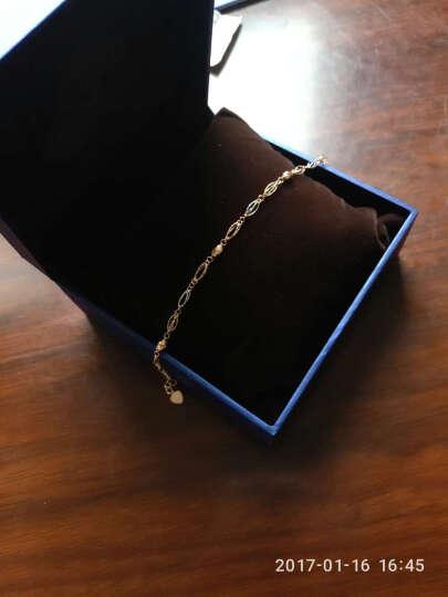 卡铂亚 18k金彩金手链 女款 AU750/玫瑰金 手饰 三色彩金 转运珠手链 长16cm+4cm 晒单图