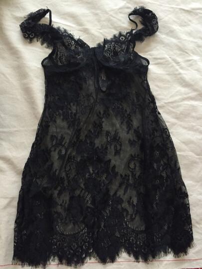 Rimes  情趣内衣 女士优雅全蕾丝性感睡衣睡裙长袍 套装系列 A032吊带睡裙 绿色 晒单图