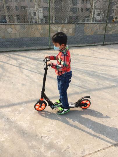 【货到付款】美途减震滑板车成人 儿童大两轮体闲运动代步车高性能铝材 炫白 晒单图