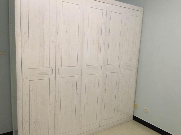 纽菲乐 榆木衣柜全实木家具 中式现代五门衣柜2米大衣橱 时尚卧室置物柜储物柜家具 全实木榆木衣柜 五门 晒单图