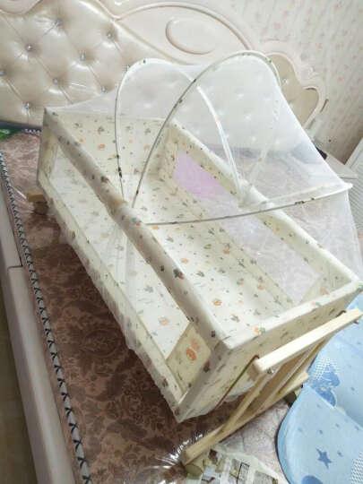 考贝特 婴儿床实木无漆宝宝床送尿布台儿童床BB床游戏床婴儿摇篮床可加长带置物架 床+五件套+棉被+椰棕床垫(花色备注) 晒单图