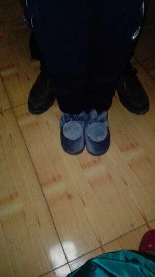 和居优品 冬季保暖棉拖鞋儿童拖鞋童女童居家宝宝鞋子 球球兔平跟/西瓜红 童(鞋底22cm) 晒单图