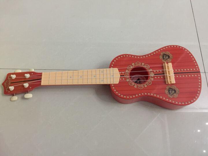 六美 儿童吉他乐器玩具21寸尤克里里可弹吉它益智玩具 中国红 晒单图