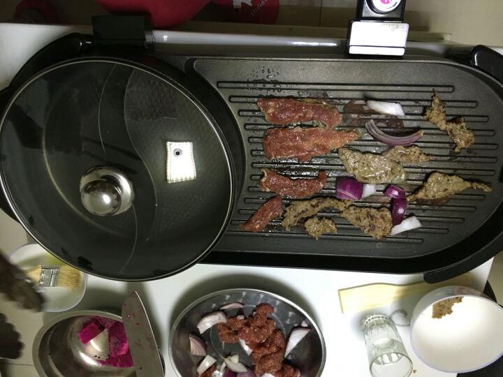 韩式无烟家用电烤炉煎烤机烤肉机烤串机 韩国多功能电热烧烤炉铁板烧电烤盘 烧烤火锅一体锅 深红色 #21 晒单图