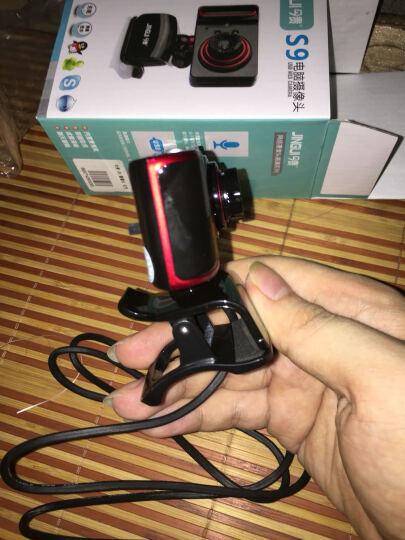 今贵 摄像头8米吸音免驱夜视笔记本用视频台式机 高清电脑摄像头带麦克风话筒 黑色红边 晒单图