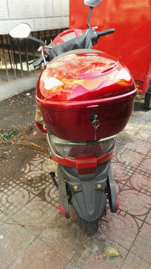一口米摩托车尾箱电动车后备箱通用摩托车后备箱特大踏板 银色 晒单图