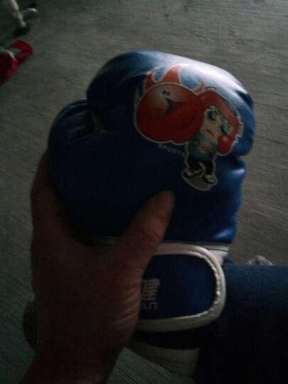 爱倍健 儿童拳击手套成人半指专业沙袋训练格斗泰拳搏击散打加厚拳套 儿童拳击手套 蓝色 晒单图