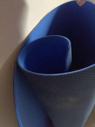 茗菲&瑜 TPE瑜伽垫防滑健身垫子环保双面女仰卧起坐运动垫平板支撑垫 纯紫罗兰(含绑带网包) 6MM 晒单图