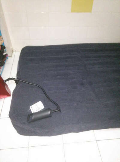 INTEX单双人加大充气床垫 蜂窝气垫床 露营折叠充气床垫 午休床 备用床 标配配脚踩充抽气泵 137CM*191CM*22CM 晒单图