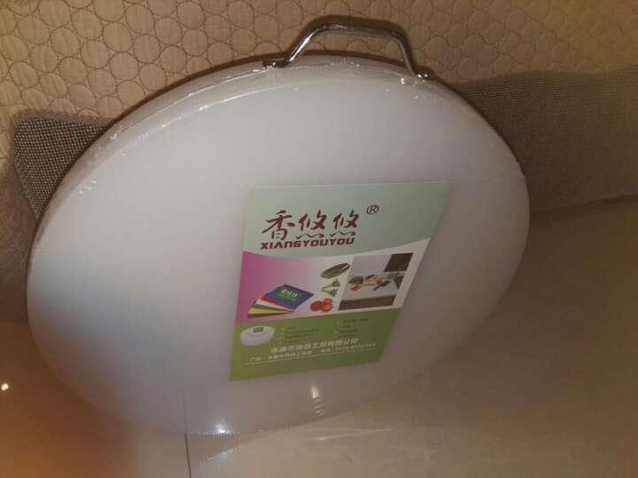 香悠悠(XIANGYOUYOU) 防霉圆形塑料菜板加厚家用厨房切菜板菜墩砧板粘板肉墩刀板 直径48cm*高5cm 晒单图