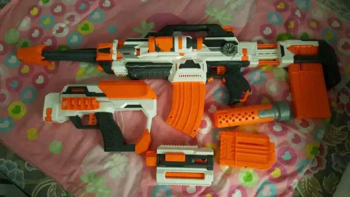 铠力 DIY电动连发软弹枪 超大百变组装儿童玩具冲锋枪可发射子弹 标准装--枪体+两个弹夹+瞄准镜+消音枪管 晒单图