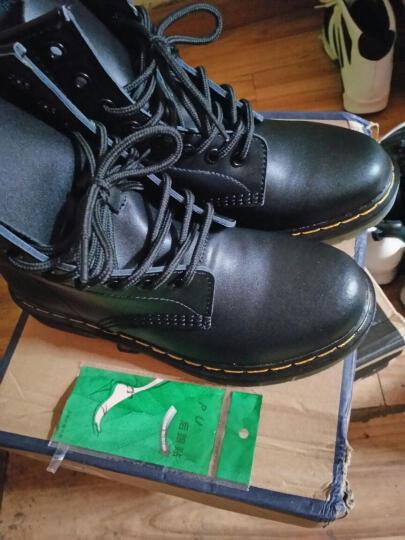 ROTO 马丁靴男靴男士真皮皮靴英伦高帮鞋男时尚加绒加厚工装韩版冬季短靴子 89027古铜色 40 晒单图