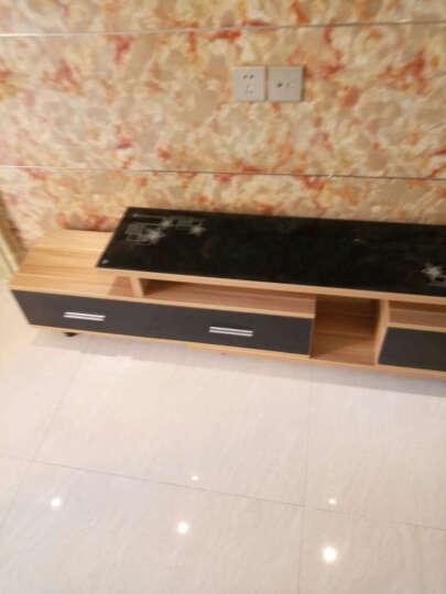 斯森易达 电视柜 现代简约伸缩电视柜组合 地柜 影视柜 单独电视柜/象牙白+白色玻璃 晒单图