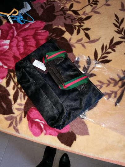 吉野豹纹包包2019新款韩版女士单肩包大包包时尚潮流百搭手提包休闲女包包尼龙防水包妈咪旅行包购物包袋 黑色 晒单图
