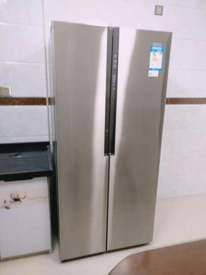 海尔(Haier)BCD-450WDSD 450升 风冷无霜对开门冰箱 304不锈钢 纤薄设计 (幻影骑士) 晒单图