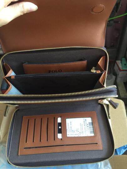 POLO 新款男士手包牛皮大容量手抓包多功能手拿包52001 52001-2小款蓝色 晒单图