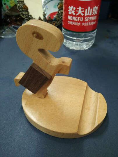 塔拉斯 懒人手机支架 床头/桌面平板直播支架 创意木质手机座 马上有钱 晒单图
