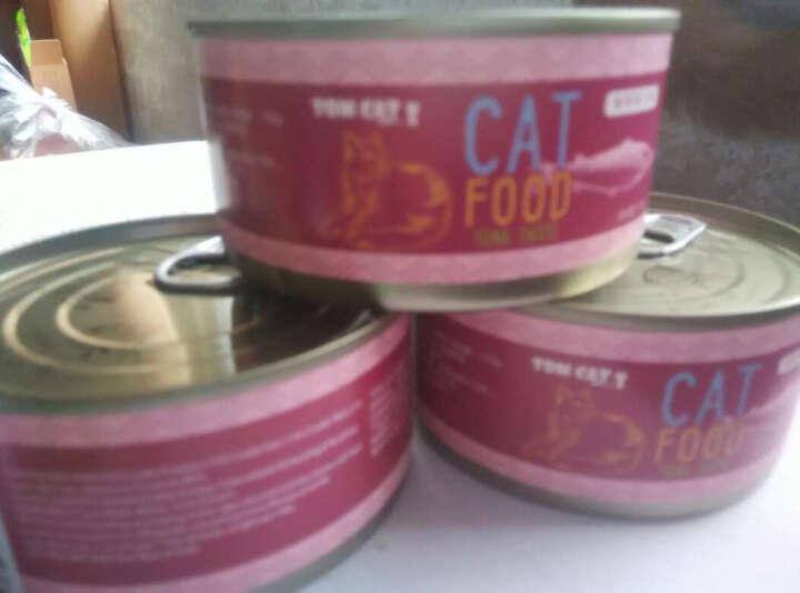TOM CAT宠物猫罐头猫零食  成猫幼猫汤汁罐头 猫湿粮170g* 猫罐头猫咪零食 橙色 金枪鱼+鲣鱼+小银鱼 晒单图