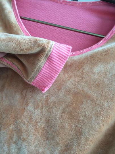 美亦姿 孕妇装保暖内衣套装加绒加厚无缝美体大码托腹裤 粉红色 均码 晒单图