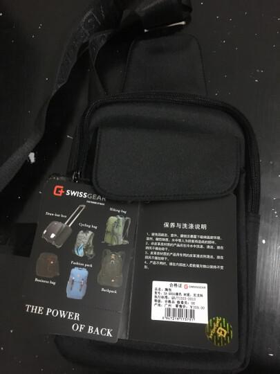 SWISSGEAR胸包 棉麻时尚胸包单肩斜挎包 户外运动旅行包男 iPadmini包 SA-9859黑色 晒单图