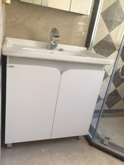 摩恩(MOEN) 洛奇系列浴室柜套餐卫生间浴室柜镜柜一体套餐组合卫生间水盆洗手盆80cm柜子 冰晶白+精铜龙头+78cm镜柜 晒单图
