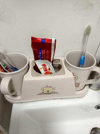 顺美 置物架 浴室卫生间情侣牙刷架 男女漱口杯套装双杯+牙具架 SM-2152 晒单图
