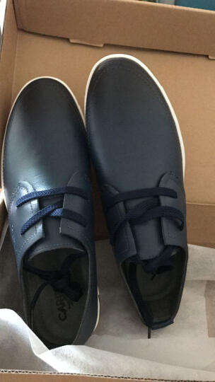 卡帝乐鳄鱼(CARTELO)男鞋 英伦休闲皮鞋男士真皮鞋子潮鞋板鞋时尚系带休闲鞋豆豆鞋 白色 42 晒单图
