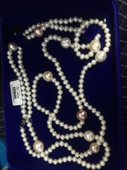 南珠宫 链意淡水珍珠项链长款毛衣链巴洛克椭圆异形珠白色混彩5.0-12.0mm时尚 130cm 晒单图
