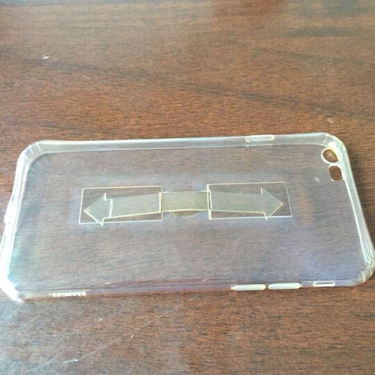 浩酷(HOCO) 指环支架手机壳保护套 适用于苹果iPhone6/6S/plus 透金-5.5【不带支架版】 晒单图