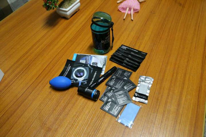 VSGO威高D-15122单反相机手机电脑镜头清洁套装 笔刷 气吹 眼镜布 湿纸巾 清洁剂 晒单图